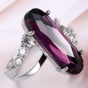 Jewelry - 10+ CARAT AMETHYST ~ WH TOPAZ  925 STERLING SILVER
